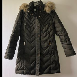 Reaction Kenneth Cole Olive Green Down Coat Size M